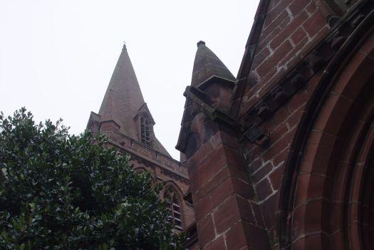 We reach the church yard of St Bartholomew's.
