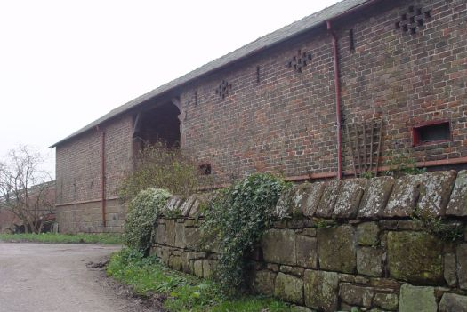 Past the ancient barn.
