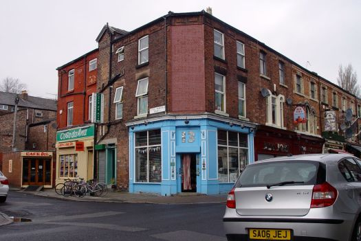 I walk back along Lark Lane. Past Greendays café.