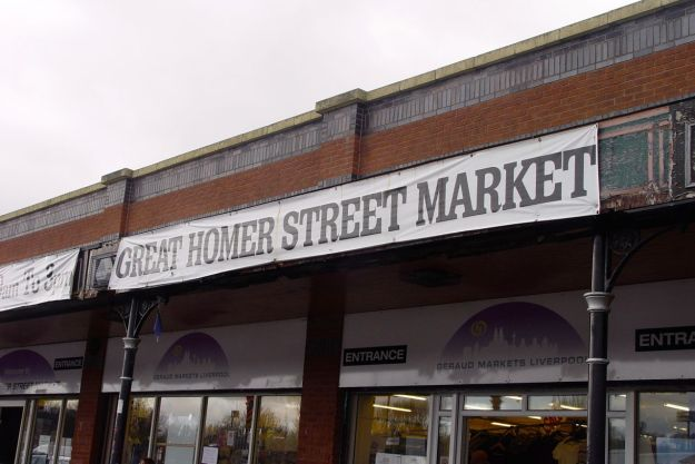 Great Homer Street has a market on it. Not Dryden Street.