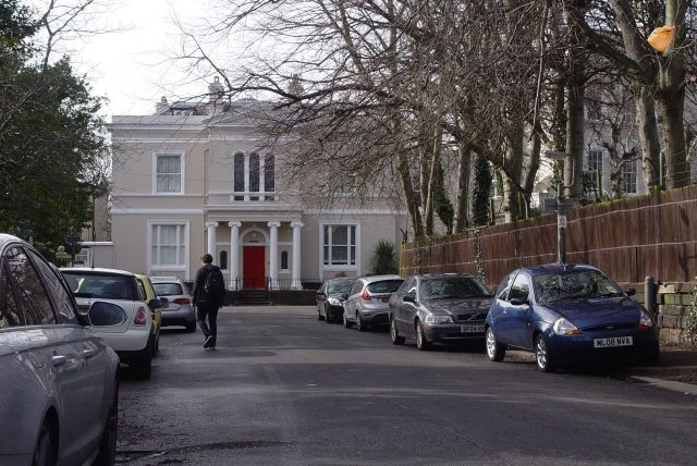 Walking through to Princes Park, past Windermere House where Roger McGough used to live.