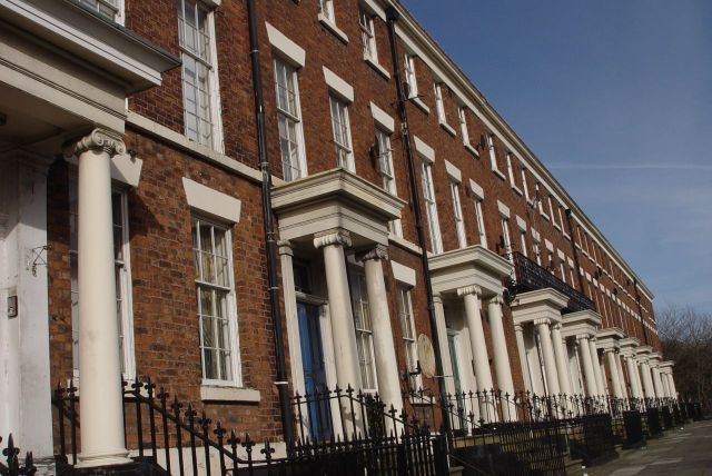 Into Georgian Liverpool. Always looks its best on sunny days. Upper Parliament Street.