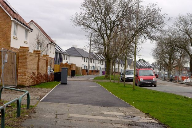 New houses on existing roads.