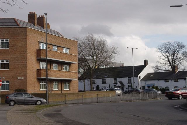 As Muirhead Avenue reaches Tuebrook, a 30s block meets some much older neighbours.