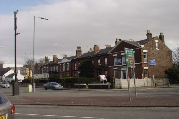And a Georgian terrace, as the city builds towards its centre.