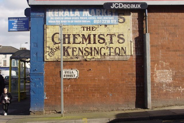 Past this lovely ghost sign off Prescot Road.