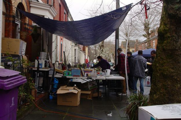 Much bric-a-brac was rummaged through and bought.