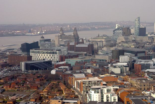 Liverpool, from the top of the Cathedral, April 2014.