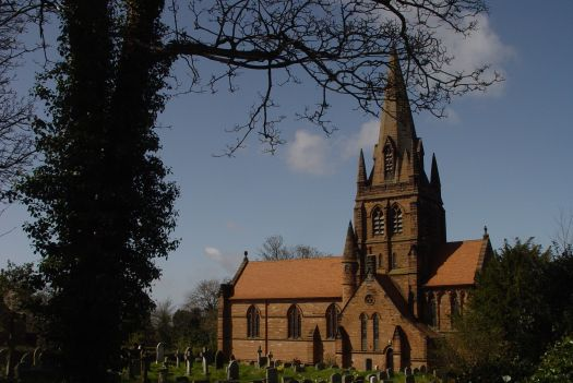 At Thurstaston village is St Bartholomew's picture perfect English church.