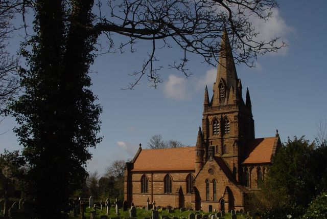 At Thurstaston village is St Bartholomew's picture perfect English church.