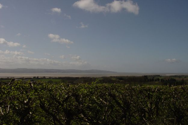 Our first glimpse today of the Shining Shore. The Dee Estuary and the coast of Wales.