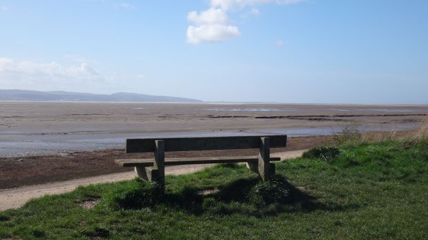 Intending to stop and have a cup of tea on this bench.