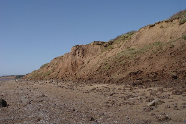 Past the lovely boulder clay cliffs.