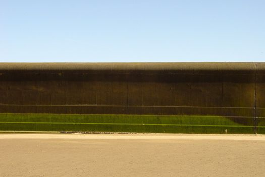 The imposing sea wall at Harrison Drive on the Wirral. Like a Mark Rothko painting.
