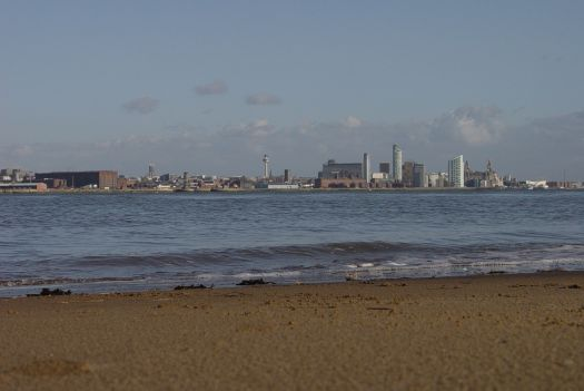 The best views of Liverpool are from the Wirral.