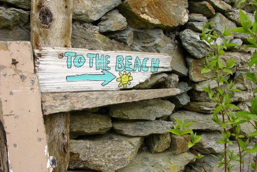 We stay near to the beach at Porth Dafarach.