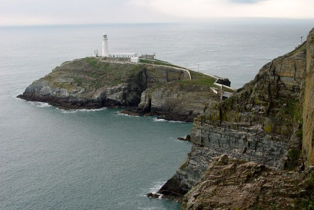 We're here on the cliffs by South Stack Lighthouse.