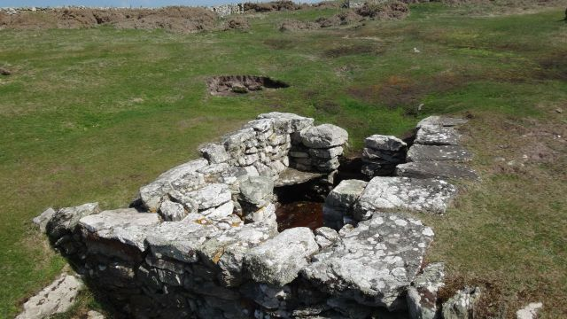 Also ancient near Rhoscolyn, the well of St Gwenfaen.