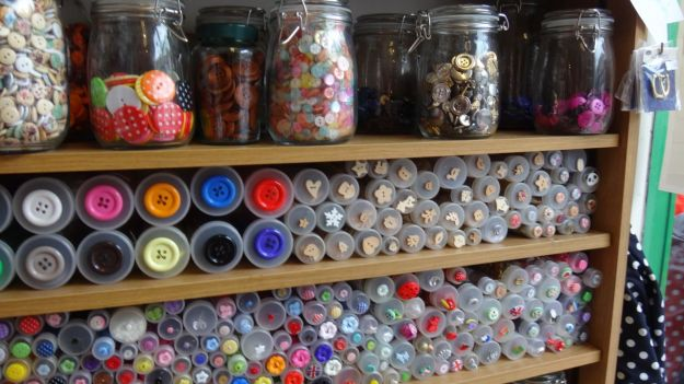 As good a buttons selection as Sarah's seen since the glory days of George Henry Lee's in Liverpool.