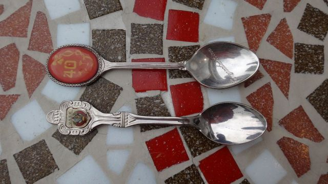 And the spoons. Look at that, a USSR spoon!