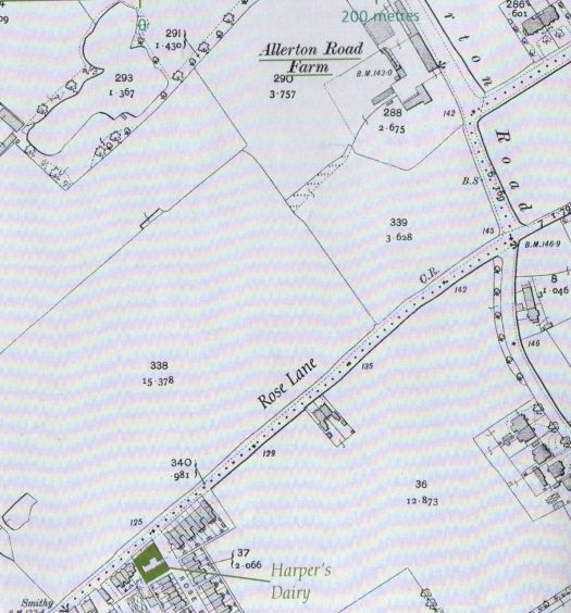 Here it is on a 1908 map. On the edge of farm land. On the edge of the city.
