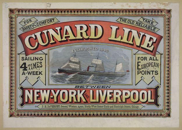 Cunard-poster