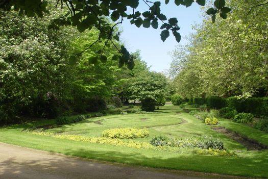 Beautiful sunken gardens have been restored.