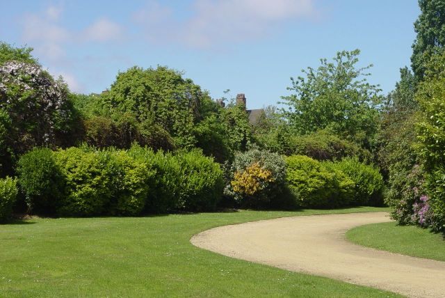 The planting is lush and mature, being the best part of 200 years old.