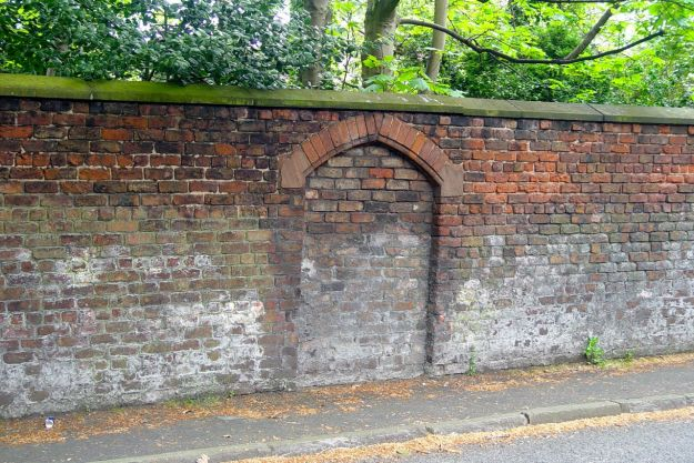 While even a bricked-in gate can be a thing of beauty.