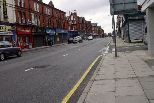 Along Smithdown road. The streets hardly open yet.