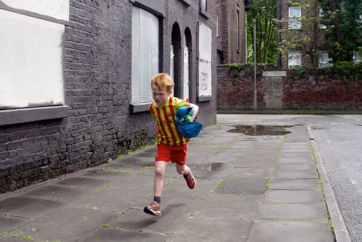 Frank gets in some running practice in case of a surprise call up for the World Cup.