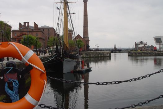 Down to the docks, where the money that made Liverpool came in.