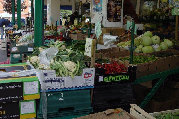 This wonderful supermarket with vegetables and fruit  you don't find in any Tesco out on the street.