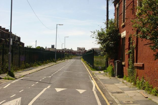 And what's left of the 'V Streets' is securely fenced in.