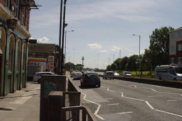 Then we cross Scotland Road.