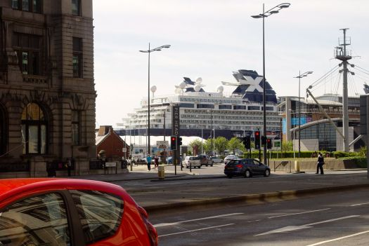 Down by the river. Is that a cruise ship or an advert for the Halifax Building Society?