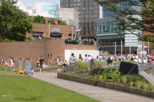 Liverpool One might think it's all about retail. But the kids think it's all about water.