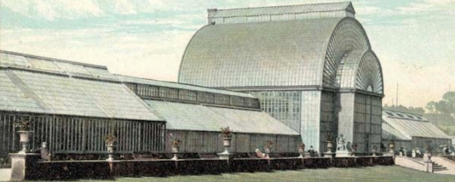 It was the wall in front of this magnificent glasshouse.