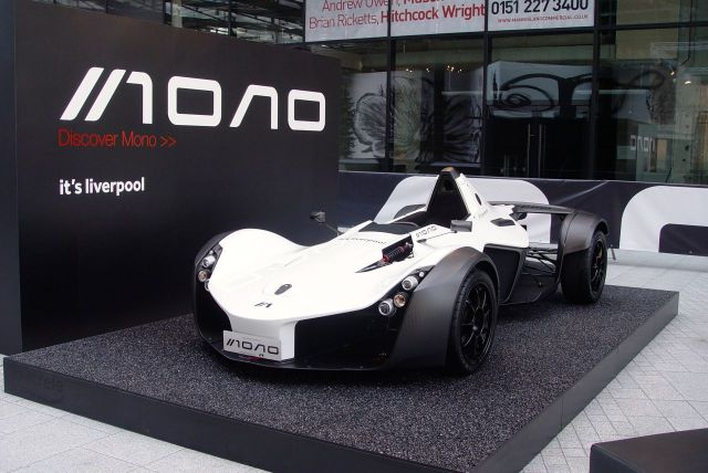 Admiring this locally built car for one, the BAC Mono.