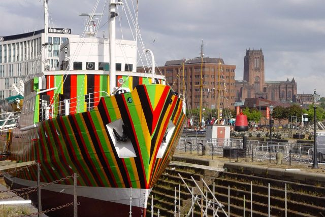 It's to be part of the Biennial Arts Festival and also to mark 100 years since the Great War, when Dazzle Ships were first used.