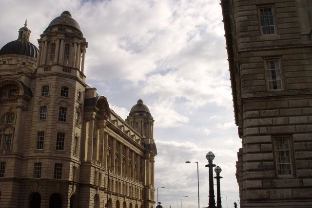 Back round to the far side of the Port of Liverpool building. Walk nearly over.
