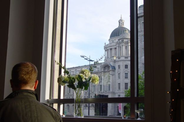 An evening spent with good friends who are truly investing in the city, investing themselves. While outside the windows The Post of Liverpool Building watches over us.