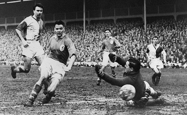Billy scoring against Blackburn Rovers.