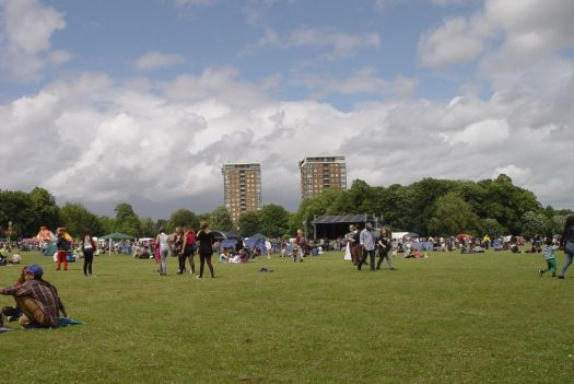On the big field in Sefton Park.