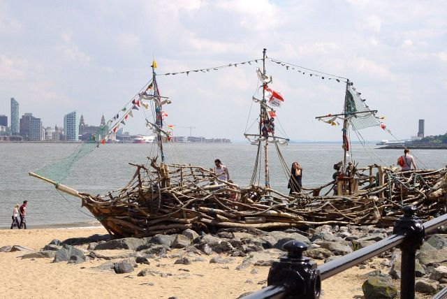 The 'Black Pearl' pirate ship is still here.
