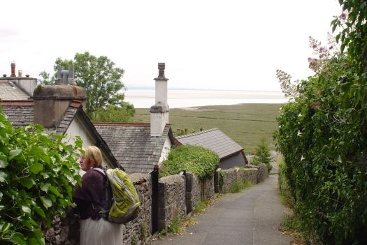 On the marshed-up edge of Morecambe Bay.