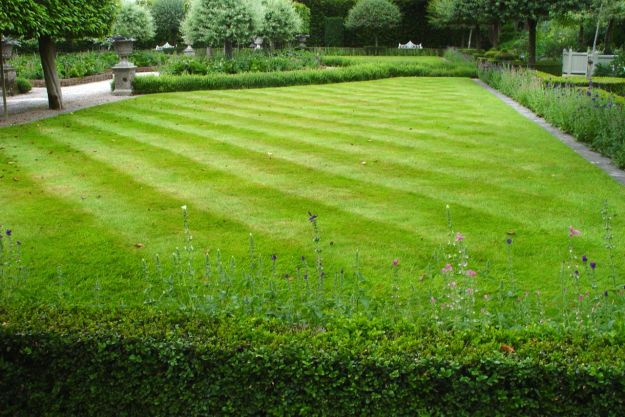 Like mowing the lawns so they're all diagonally striped.
