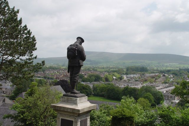 This whole hill, in the centre of the town, is their memorial to the fallen.