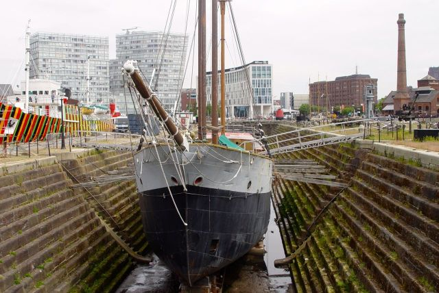 Past our oldest dock still in use, the Canning Graving Dock.