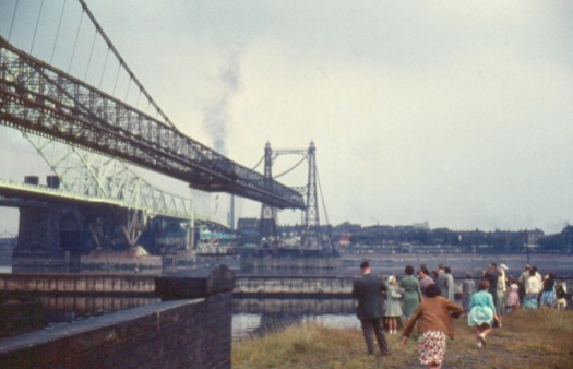 This Transporter Bridge, on its last day, in 1961.
